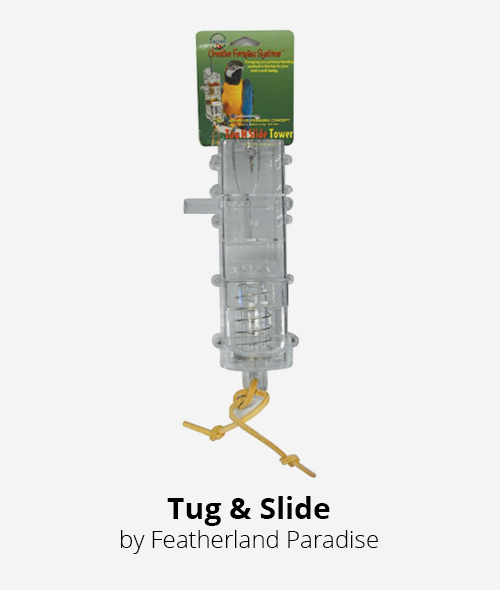 tug n slide foraging tower by featherland paradise