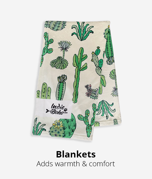 blankets add warmth and comfort