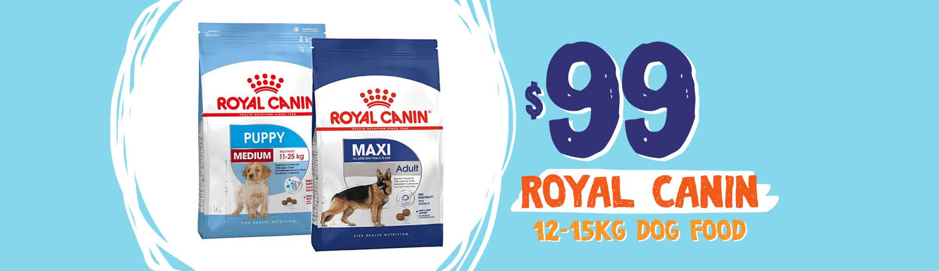 Now Just $99 for Royal Canin 12-15kg Bags Dog Food