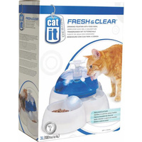 Catit Fresh N Clear Drinking Fountain with Food Bowl