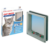 CatMate Cat Door 4 Way Lock Large WHITE