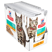 Hills Cat Perfect Weight Chicken Pouch 85g Box (12 Pouches)