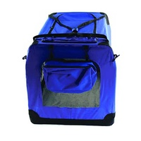 Collapsible Soft Travel Crate Small Dark Blue