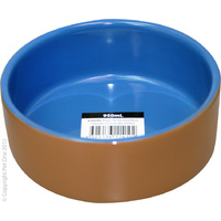 Terracotta Bowl Blue Glaze 450ml
