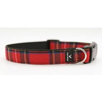 Soapy Moose Collar Red Tartan Small