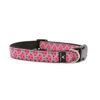 Soapy Moose Dog Collar Hot Pink Watermelon XLge
