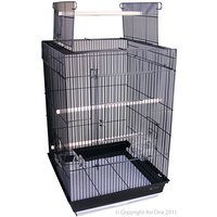Open Top Large Door Cage '400AOP' Black