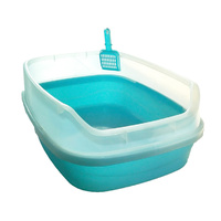 Extra Large Litter Tray with Rim Clear