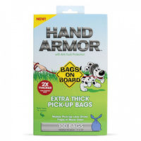 Hand Armor Extra Thick Tie Bags (100 Pack)