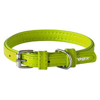 Rogz Collar Leather Lime Extra-Small