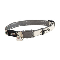 Rogz Glowcat Jumpin Collar Black