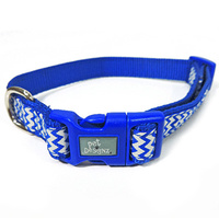 Collar Adjustable Zig-Zag Blue 48-70cm