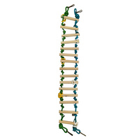 Bird Ladder 15 Step W/Sisal Rope