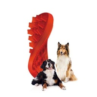 Silicone Brush Pet+Me Firm Red