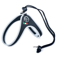 Tre Ponti Easy Fit Harness Black Reflective Medium