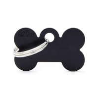 ID Tag Basic Small Bone Black