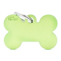 ID Tag Basic Large Bone Lime