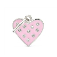ID Tag Chic Heart Pink