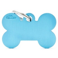 ID Tag Basic Large Bone Light Blue