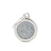 Tag Shine Circle Grey Small