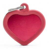 ID Tag 'Silent' Hush Heart Red