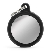 ID Tag 'Silent' Hush Circle Black & Chrome