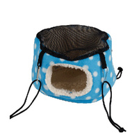 "Rat Bed ""Just Hanging"" Blue/White Dot"