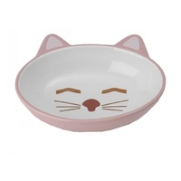 Cat Bowl Here Kitty Oval Pink 15cm