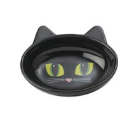 Bowl Here Kitty Oval Black