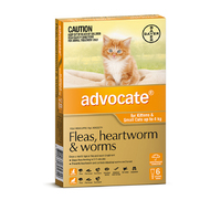 Advocate Cat 0-4kg ORANGE 6 Pack