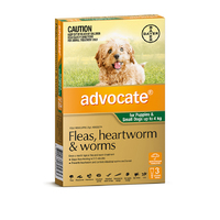 Advocate XS For Small Dogs 0-4kg (3 Pack)