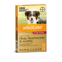 Advocate Dog 10-25kg RED 3 Pack