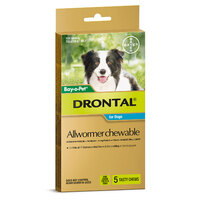 Bayer Drontal Chewable 10kg (5 Pack)