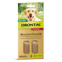 Bayer Drontal Chewable 35kg 2 Pack