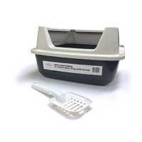 T&T Hi-Sided Litter Tray with Scoop