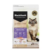 Black Hawk Cat Grain Free Duck & Fish 2.5kg
