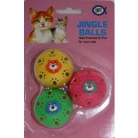 Jingle Balls Plastic With Cat Face