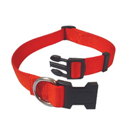Adjustable Nylon Collar 15-22cm Red