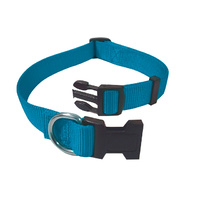 Adjustable Nylon Collar 15-22cm Turquoise