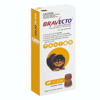 Bravecto Chew XS Dog 2-4.5kg (2 Pack)