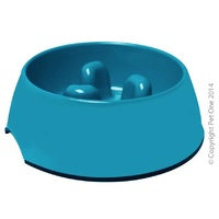 Melamine Slow Down Bowl Turquoise 300mL