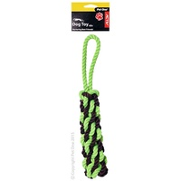 Dog Toy Rope Pull Green Small