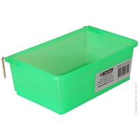 Feeder Rectangle Plastic 17.5x10cm Green