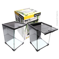 Reptile Glass Enclosure Mini T2 20cm with Lid Tall