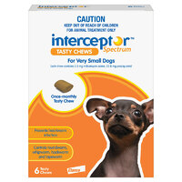 Interceptor XS Dog 0-4kg (6 Pack)
