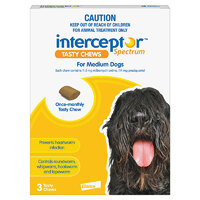 Interceptor Medium Dog 11-22kg (3 Pack)
