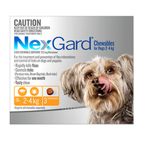 Nexgard 2-4kg Orange 3 Pack
