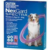 Nexgard Spectra Large Dogs 15-30kg (6 Pack)