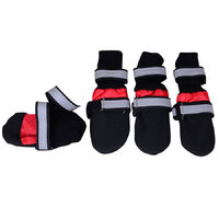 Zeez Boots Red Large (4 Pack)