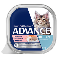 Advance Can Kitten Chicken & Salmon 85g